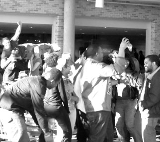 "Students dance to the ""Harlem Shake"""