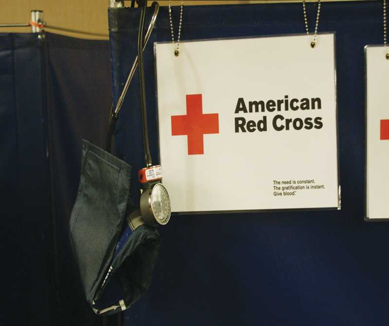 Students+gathered+in+Ullsvik+Hall+to+donate+blood+for+the+Fall+blood+drive.