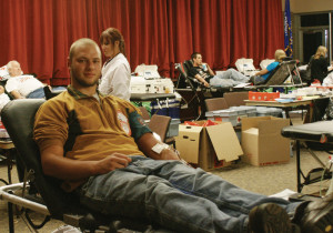 Sophomore criminal justice major Matthew Thomas said he has donated blood every year starting in high school.