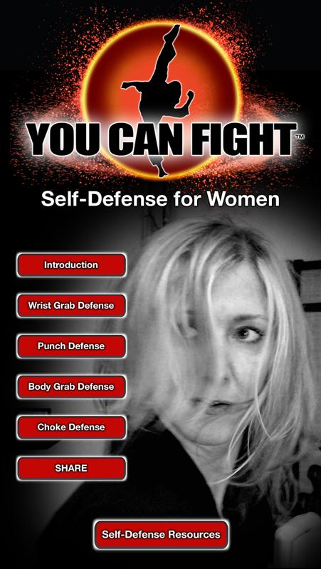 Cell phone app demonstrates basic self-defense techniques for all women.