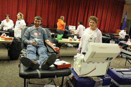765 people donate at Blood Drive
