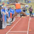Amber Williams leaps in the long jump at the UW-Platteville Invitational