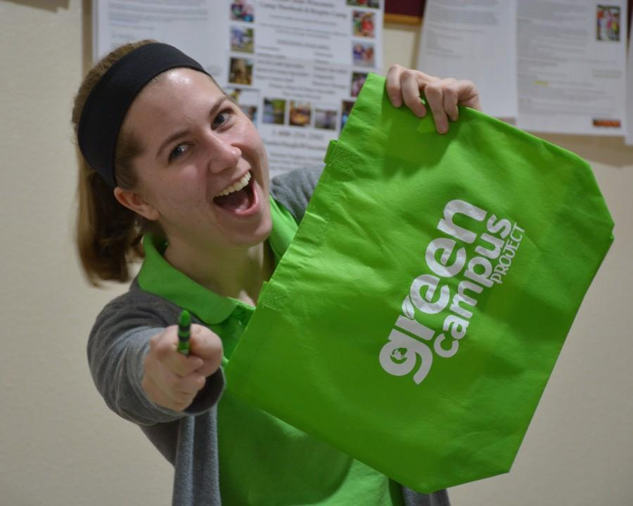 Melanie+Nanke%2C+senior+mechanical+engineering+major+is+the+president+of+Green+Campus+Project.+The+organization+promotes+sustainability.