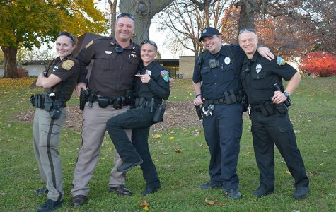 Police light up the UW-Platteville campus