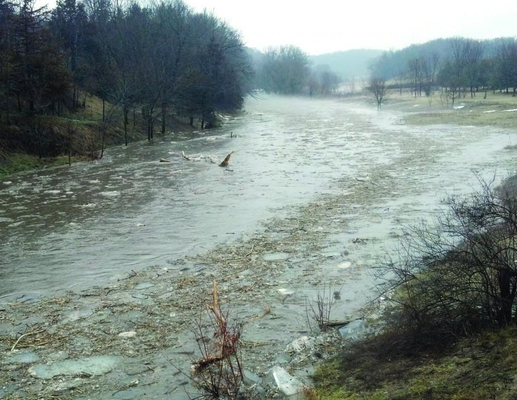 Due to heavy rainfall the Driftless Region experienced flooding on Tuesday evening empeeding traffic on Stumptown Road outside of Platteville.