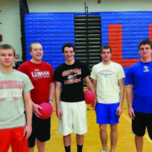 Jacob  Riehl, sophomore computer science major, Zac Jensema, sophomore criminal justice major, Alex Highbec, sophomore civil engineer major, Joe Stoffel, sophomore mechanical engineer major and Matt Bautch, freshman building construction management major placed first at the first annual Sigma Tau Gamma Dodgeball Tournament.  They are apart of the dodgeball club.