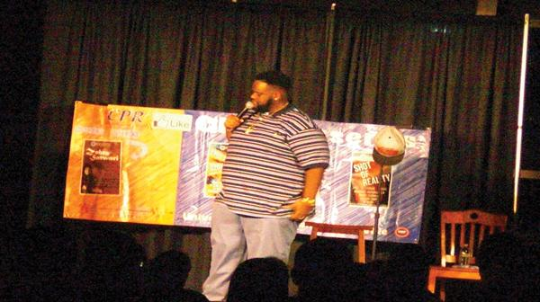 Comic Ronnie Jordan makes jokes about things ranging from Dora the Explorer to twerking to mo-ped gangs during his set at the Markee Pioneer Student Center Saturday. This was the first CPR event of the semester.