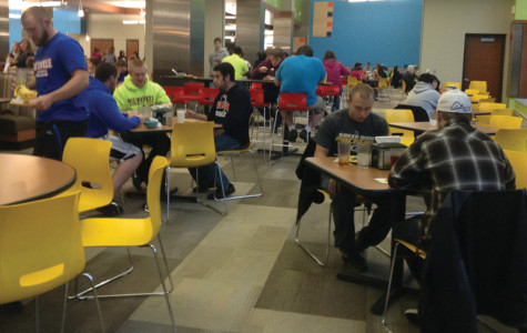 Students have voiced their concerns to Student Senate about the over-crowded Stations Dining Hall during dinner. The Senate has drafted to create more seating.