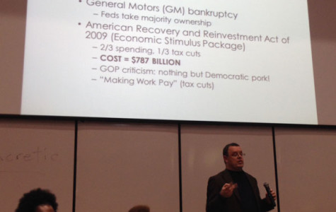 Lecture covers US economic  issues, systems of government