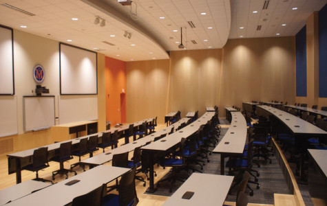 Classroom transformed into modern lecture hall