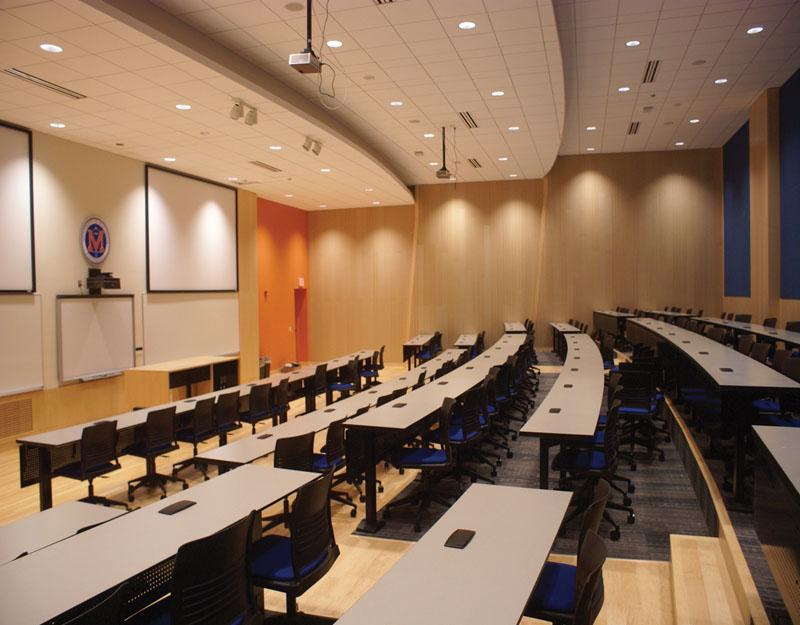 Modern University Classroom : Classroom transformed into modern lecture hall exponent
