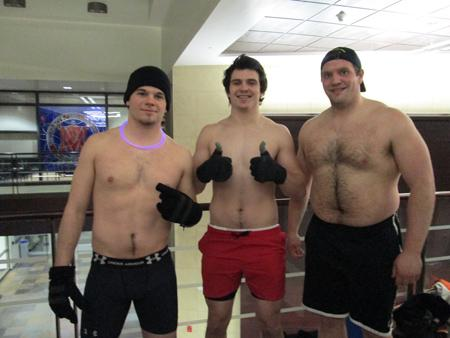 Students strip down, brave the cold for charity