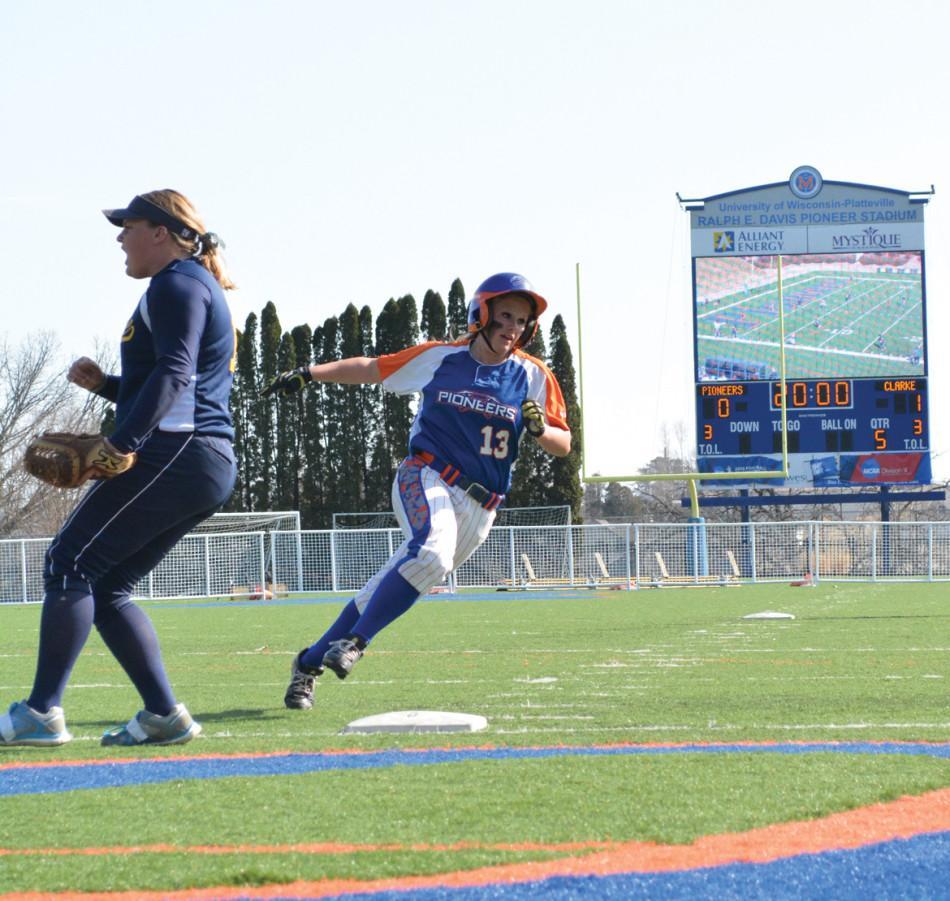 Softball wins home debut