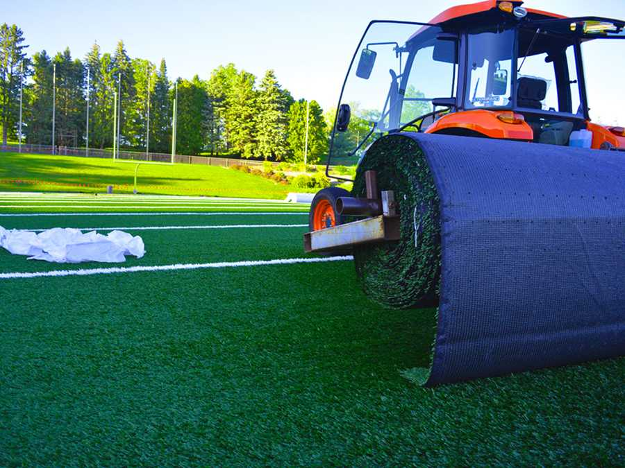 The turf at Ralph E. Davis Pioneer Stadium in in the process of being renovated by ProGrass out of Pittsburgh, PA.