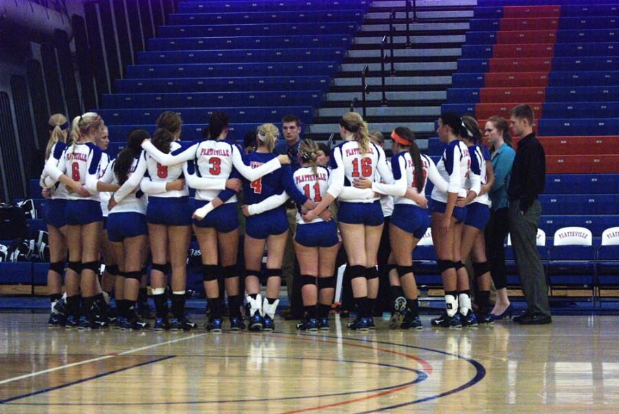 Platteville Volleyball Players