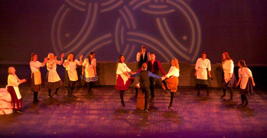 An Irish Christmas tours to the university, performing a variety of traditional Irish music and dances, including the well known River Dance.