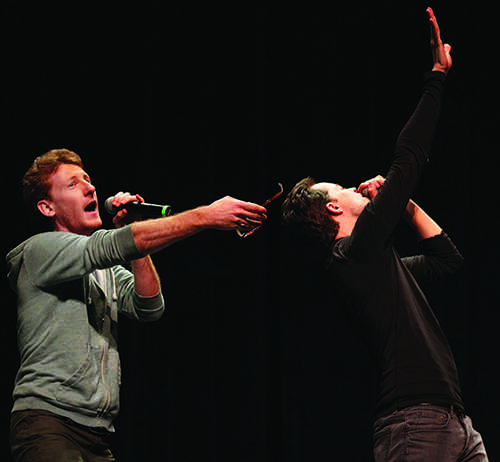 Dakaboom was the two-person MC group that mediated the variety show on Oct. 8 and kept the crowd entertained throughout the evening.