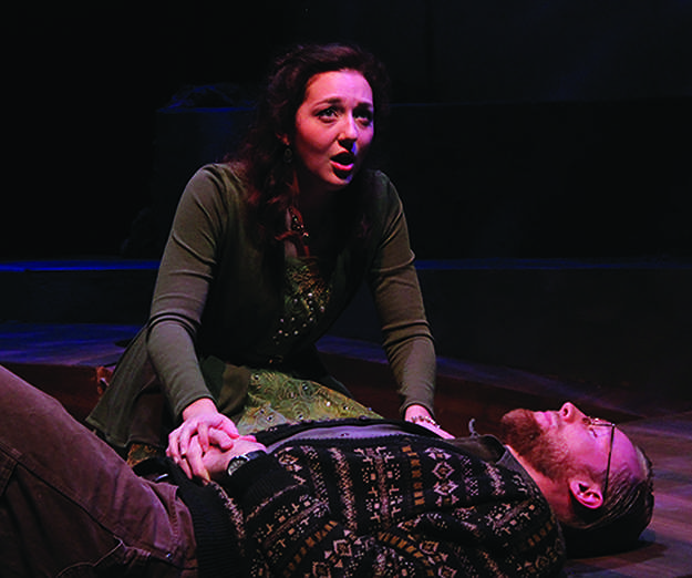 Sarah McCraw played Eurydice and Elliot Frieden played Eurydice's father in the production that was described as 'devastatingly lovely'.