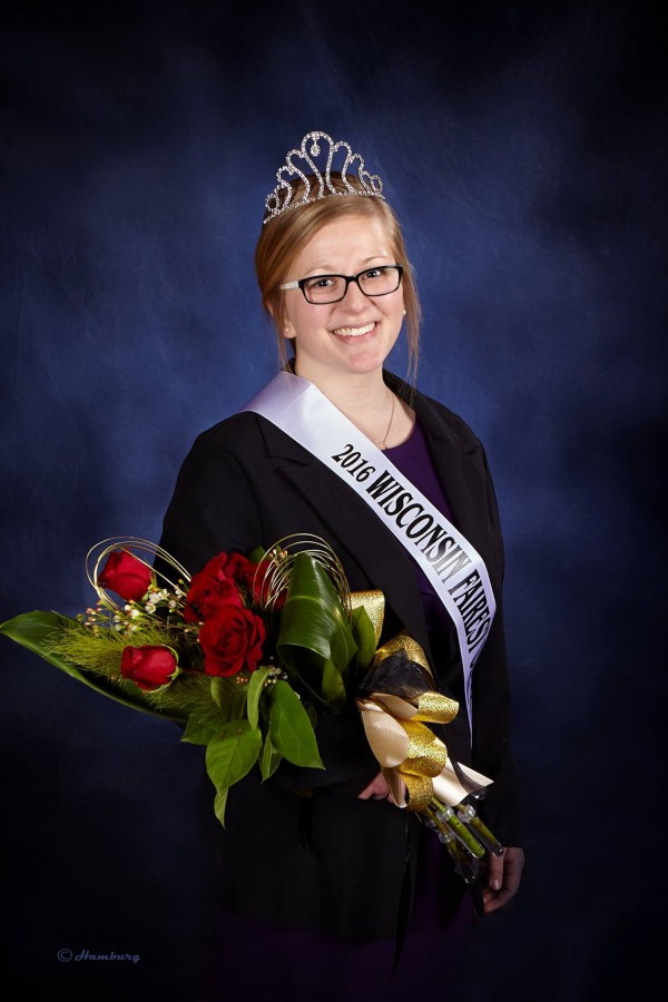 Junior, non-teaching agriculture education major, Gloria Kesler crowned the 2016 Wisconsin State Fairest of the Fair. Kesler broke state records for being the first contestant to win the titles of the Wisconsin State Fairest of the Fair and Miss Congeniality.