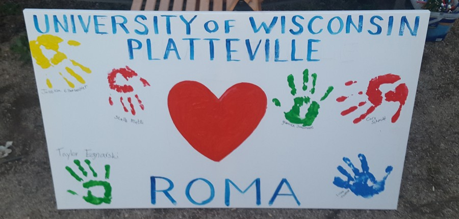 UW-Platteville+students+created+a+mural+while+in+Rome+over+winter+break.+