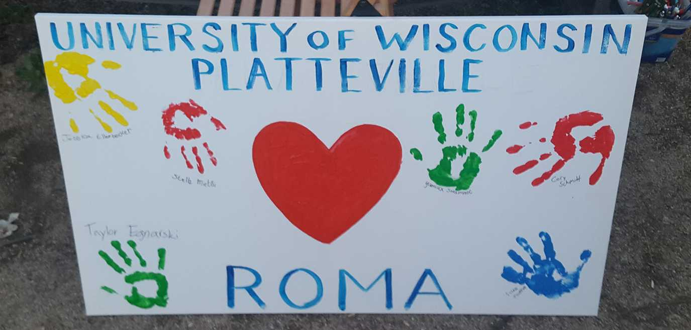 UW-Platteville students created a mural while in Rome over winter break.