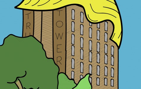Newly renamed Trump Tower gets a Donald Trump makeover. A toupee is one of the additions, which will help to model the tower after its benefactor. Trump chose to renovate the tower over other buildings due to its size and it's iconicness to UW-Platteville.