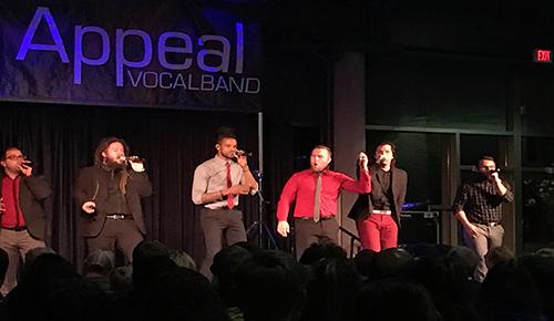 Six Appeal Vocalband performed a series of hits that appealed to all audience members.