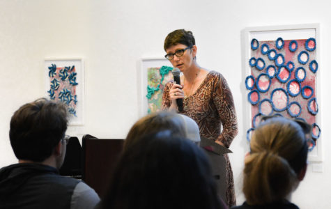 Madison local Rita Mae Reese performed some of her own poetry as well as a few poems from Flannery O'Connor at the Visiting Writers Reading Series on Oct. 4.
