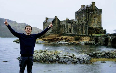 Senior mechanical engineering major Sylas Swank poses in front of an old castle during his time in Dublin, Ireland.