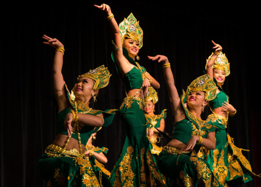The event featured several acts and performances, including Mulan Dance Group.