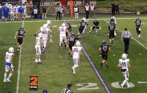 UW-Platteville Pioneers drive for their first touchdown late in the third.
