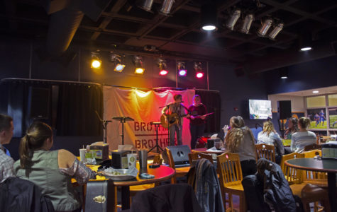 Folk-rock duo performs at Open Talent Night