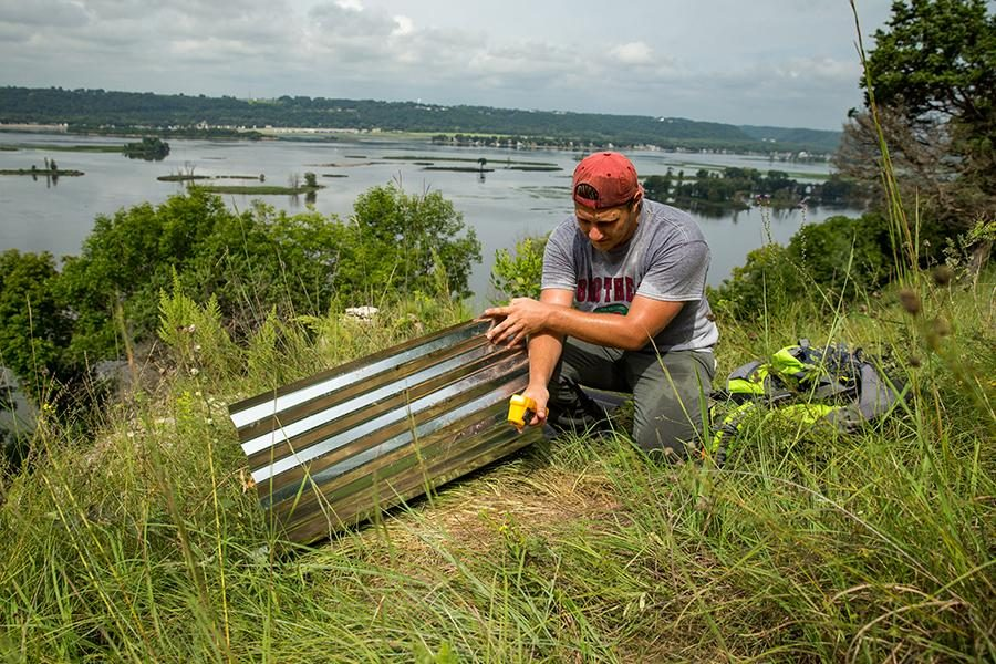 Student surveys snake fungal disease at Eagle Valley Preserve