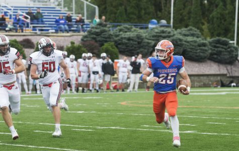 Pioneers triumph in homecoming game against Falcons