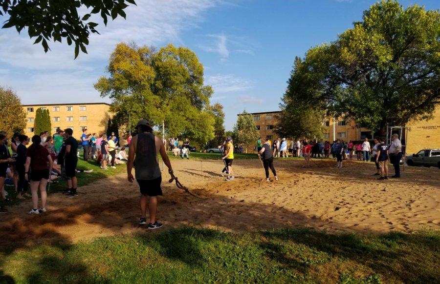 Campus clash for tug-of-war