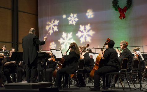 Pioneers rock around the stage at Holiday Gala