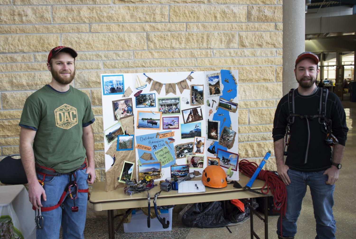 Jacob Thomas photo Outdoor Adventure Club members participating in spring involvement fair.