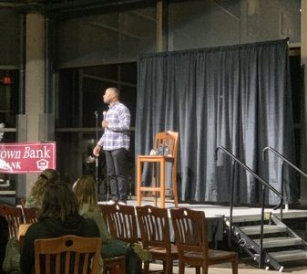 Local Comedian performs at Markee  Student Center